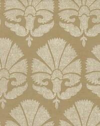 Ottoman Fans Wallpaper Gold White by