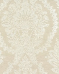 Heritage Damask Wallpaper Beige White by