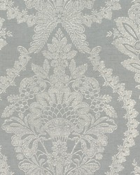 Heritage Damask Wallpaper Silver Lt Grey by