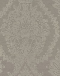 Heritage Damask Wallpaper Dark Grey by