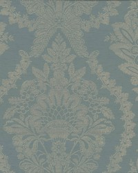 Heritage Damask Wallpaper Blue by