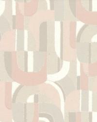 Sculpture Garden Wallpaper Pink Cream by