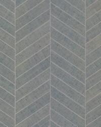 Atelier Herringbone Wallpaper Light Gray by