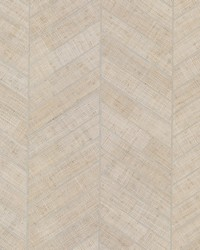 Atelier Herringbone Wallpaper White by