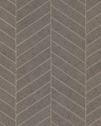 Atelier Herringbone Wallpaper Gray by