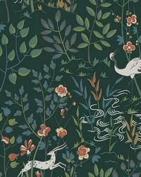 Aspen Wallpaper Dark Green by