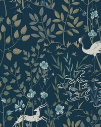 Aspen Wallpaper Dark Blue by