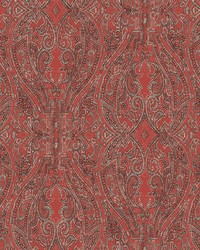 Ascot Damask Wallpaper Red by