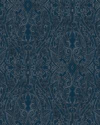 Ascot Damask Wallpaper Dark Blue by