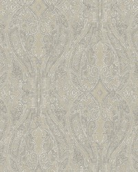 Ascot Damask Wallpaper Off White by
