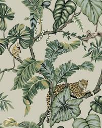 Jungle Cat Wallpaper Beige by
