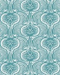Lotus Palm Wallpaper Aqua by