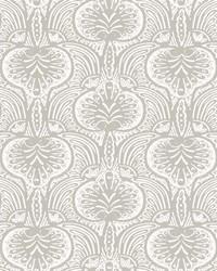 Lotus Palm Wallpaper Gray by