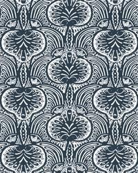 Lotus Palm Wallpaper Navy by