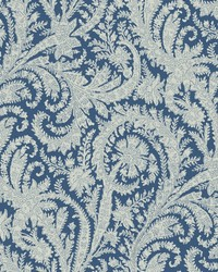 Archive Paisley Wallpaper Blue by