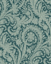 Archive Paisley Wallpaper Green by