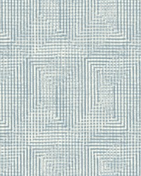 Right Angle Weave Wallpaper Blue by