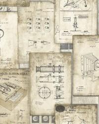 Patent Pending Wallpaper Tan by