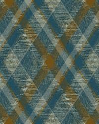 Diamond Plaid Wallpaper Blue by
