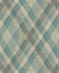 Diamond Plaid Wallpaper Blue  Beige by