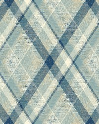Diamond Plaid Wallpaper Blue  Tan by