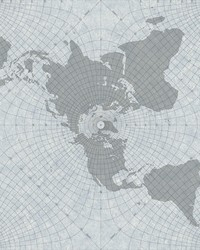 Maritime Map Wallpaper Blue by