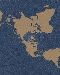 Maritime Map Wallpaper Blue  Tan by