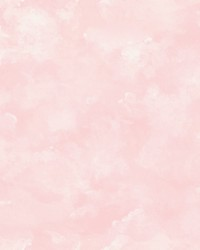 Atrium Clouds Wallpaper Pink by