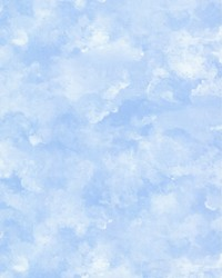 Atrium Clouds Wallpaper Blue by