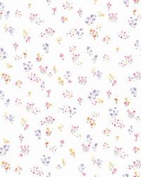 Watercolor Floral Bouquet Wallpaper Pink Orange Purple by