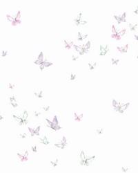Watercolor Butterflies Wallpaper Purple by