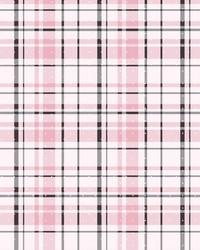Polka Dot Plaid Wallpaper Pink Black by