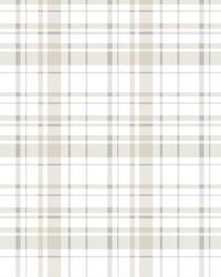 Polka Dot Plaid Wallpaper Neutral by