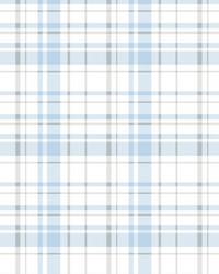 Polka Dot Plaid Wallpaper Blue by