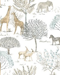 On The Savanna Wallpaper Neutral by
