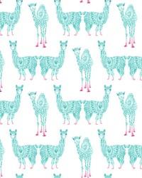 Alpaca Pack Wallpaper Teal by