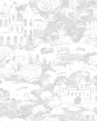 Quiet Kingdom Wallpaper Grey by