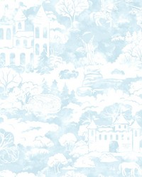 Quiet Kingdom Wallpaper Blue by