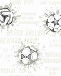 Soccer Ball Blast Wallpaper Neutral by
