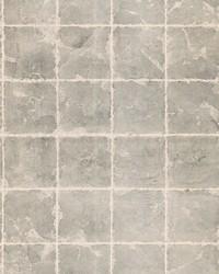 Metal Leaf Squares Wallpaper Black by