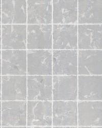 Metal Leaf Squares Wallpaper Silver by