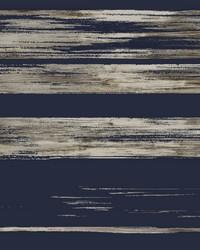 Horizontal Dry Brush Wallpaper Navy by