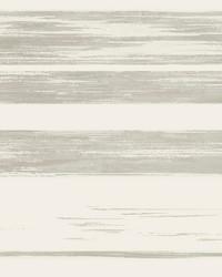 Horizontal Dry Brush Wallpaper White Grey by