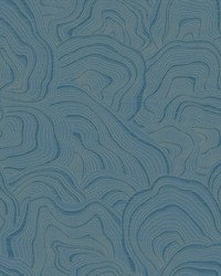 Geodes Wallpaper Blue by