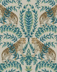 Jungle Leopard Wallpaper Taupe by
