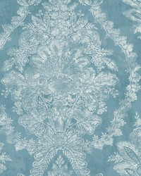 Charleston Damask Wallpaper Blue by