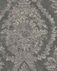 Charleston Damask Wallpaper Grey by