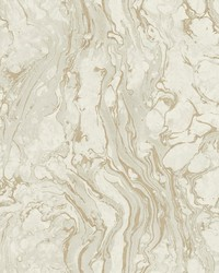 Polished Marble Wallpaper White Gold by