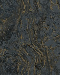 Polished Marble Wallpaper Black by