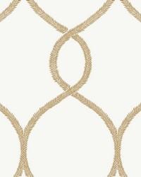 Laurel Leaf Ogee Wallpaper Gold  by